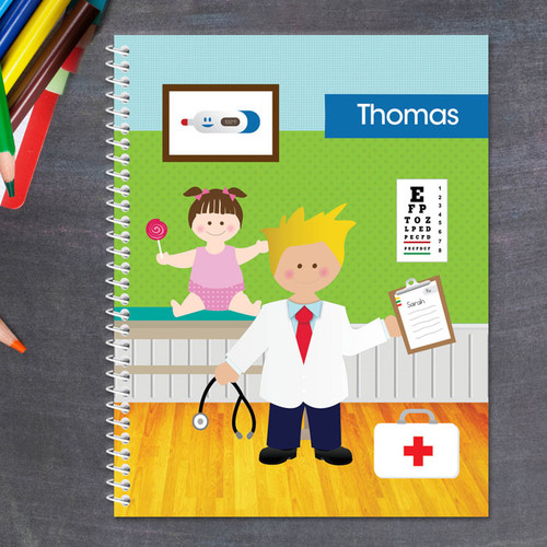 Doctor's Boy Visit Kids Notebook
