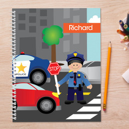 Police on Duty Kids Notebook