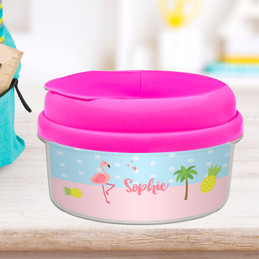 Sweet Flamingo Love Snack Bowl