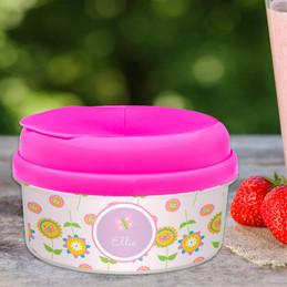 Pink Flowers Pattern Snack Bowl