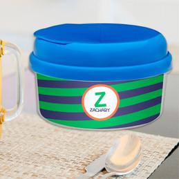 Fun Initials Green Snack Bowl