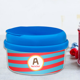 Fun Initials Red Snack Bowl