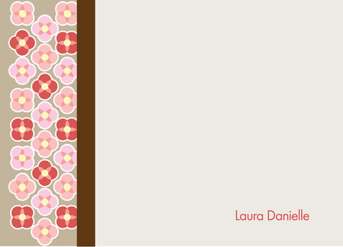Shop Personalized Notecards | Flower Checkerboard