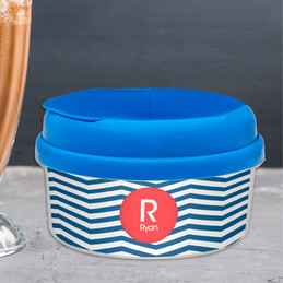 Chevron Navy And Red Snack Bowl