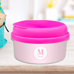 A Shiny Pink Letter Snack Bowl