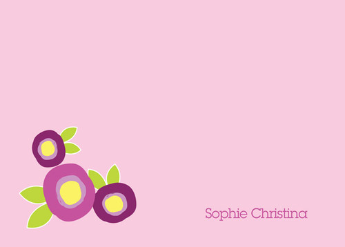 Browse Best Personalized Stationery | Modern Flowers Purple