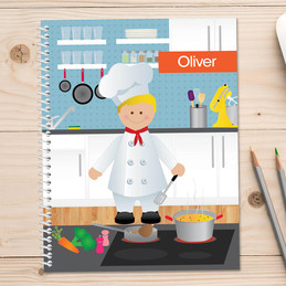 A Chef's Taste Boy Kids Notebook