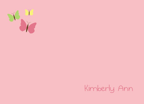Gorgeous Personalized Note Cards With Name | Butterfly World