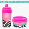 Best sippy cups for toddlers Zebra & Pink