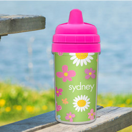 Field Of Flowers - Green Sippy Cup