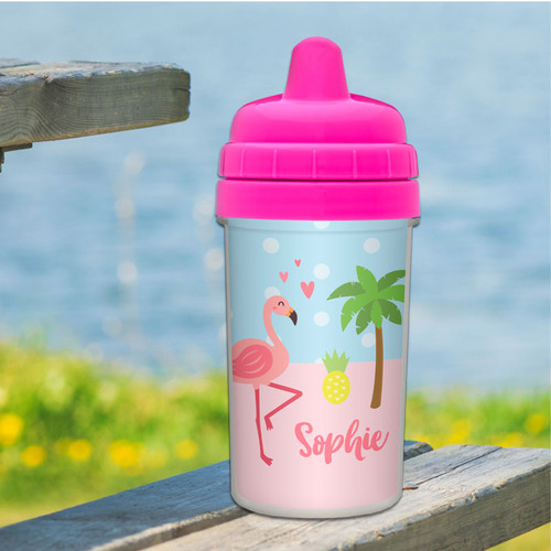 Sweet Flamingo Sippy Cup for Milk