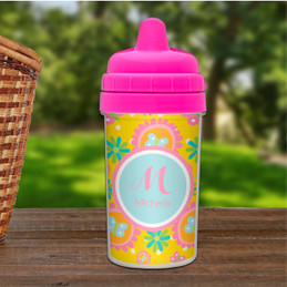 Flowers Personalized Toddler Sippy Cups