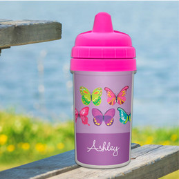 Butterflies Personalized Baby Sippy Cups