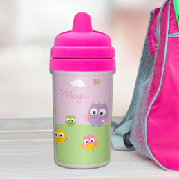 Owls Personalized Sippy Cups for Toddlers