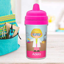 Cute Scientist Girl Sippy Cup