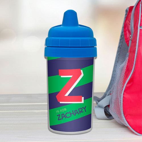 Initial Personalized Toddler Sippy Cups