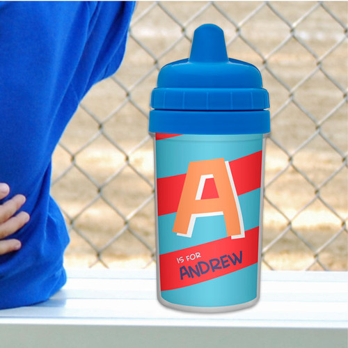 Initial Personalized Sippy Cups for Toddlers