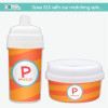 Fun Initials - Orange Sippy Cup for Toddlers