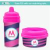 Fun Initials - Magenta Sippy Cups