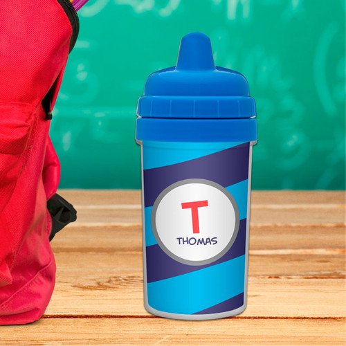Fun Initials - Blue Toddler Sippy Cups