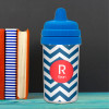 Chevron - Navy & Red No Spill Cup