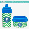Chevron Green & Blue Transition Sippy Cup