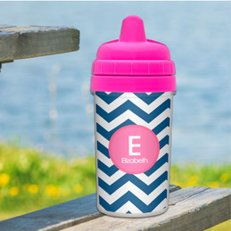 Chevron - Blue & Pink Sippy Cup
