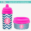 Chevron - Blue & Pink No Spill Sippy Cup