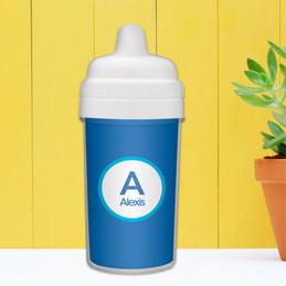 A Linen Letter - Blue Sippy Cup
