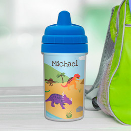 Dino Personalized Sippy Cups for Toddlers