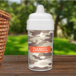 Brown Camouflage Sippy Cup