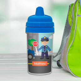 No Spill Sippy Cup with Police Duty