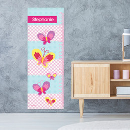Smiley Butterfly Kids Growth Chart