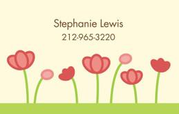 My Pink Garden Calling Card