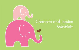 Mini Elephants Gift Tag