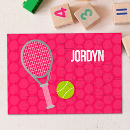 Pink Tennis Fan Personalized Puzzles