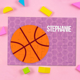 Basketball Fan Girl Circles Puzzles