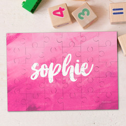 Bold Colorful Name Personalized Puzzles