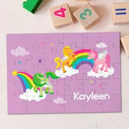 Sweet Unicorns Personalized Puzzles