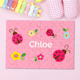 Three Lady Bugs Personalized Puzzles