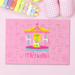 Sweet Carousel Personalized Puzzles