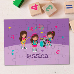 Rock and Roll Band Personalized Puzzles