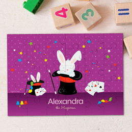Cute Girl Magician Personalized Puzzles