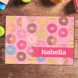 Sweet Donuts Personalized Puzzles