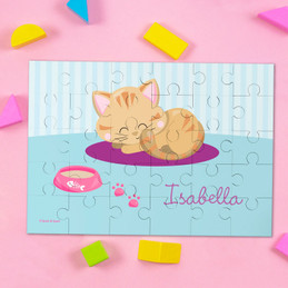 Cute Little Kitten Personalized Puzzles