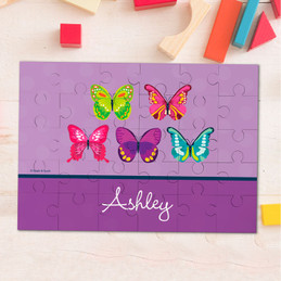 Bright Butterflies Personalized Puzzles