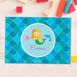 Mermaid Shades Personalized Puzzles