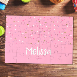 Sweet Glitter Dots Personalized Puzzles