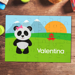 Sweet Panda Personalized Puzzles