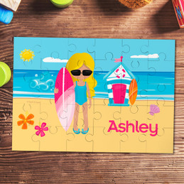 Beach Girl Personalized Puzzles